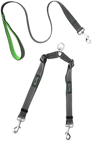 Mighty Paw Double Dog Leash Two Dog Adjustable Length Dog Lead Premium Quality No Tangle Leash product image