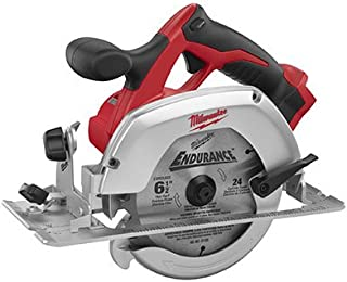 "Milwaukee M18 2630-20 18 Volt Lithium Ion 6-1/2"" 3,500 RPM Cordless Circular Saw w/ Magnesium Guards and Included 24-Tooth Carbide Wood Cutting Blade"