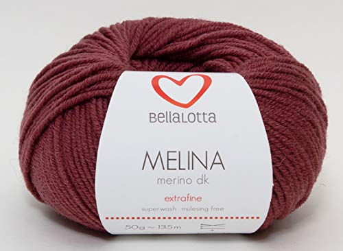 BellaLotta Strickset Merino - Babydecke Wunschkind in 40x50 oder 60x80 cm (60x80, Rosenholz)