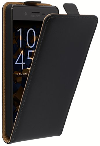 mumbi Tasche Flip Hülle kompatibel mit Sony Xperia X Performance Hülle Handytasche Hülle Wallet, schwarz