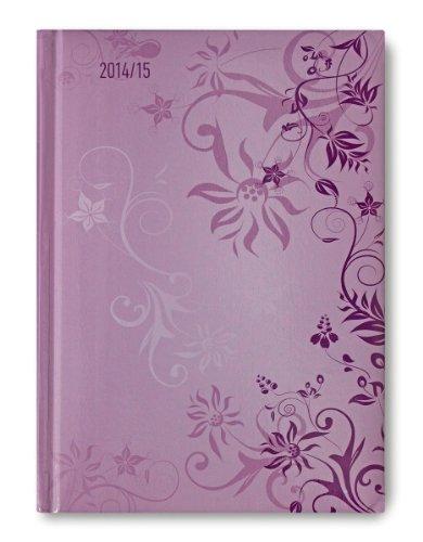 Campustimer Violet Flowers - A5 Semesterplaner - Studentenkalender 2014/2015