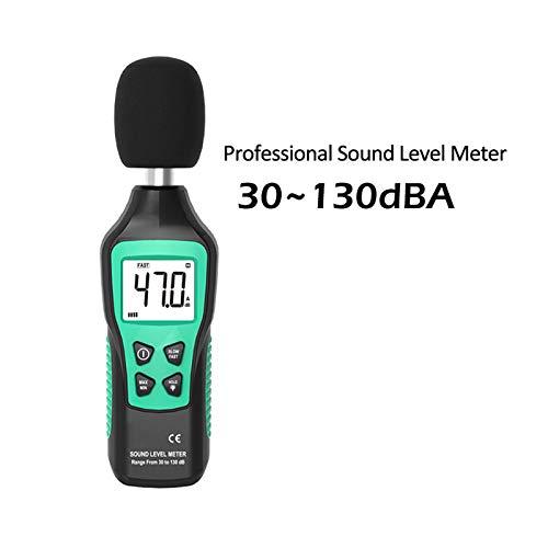 Digital Sound Level Meter, 30-130Db Lärm Lautstärke-Messgerät Decibel Tester Überwachung Fast/Slow Zwei Modi Sound Meter