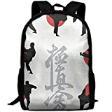 Deglogse Mochila Escolar, Mochila de Viaje Mochila, Japan Karate Business Laptop Backpack...