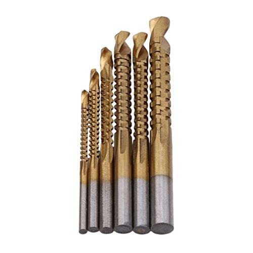 SUNSKYOO Bohrer Set Holzbearbeitung Holz Metall Lochsäge Lochsäge Werkzeuge Schleifen Elektrische Drehfeile Kopf Gravur Schaftfräsen