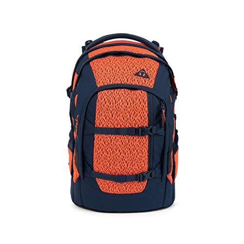 satch Pack Supernova, Special Edition, ergonomischer Schulrucksack, 30 Liter, Organisationstalent, Korall/Blau