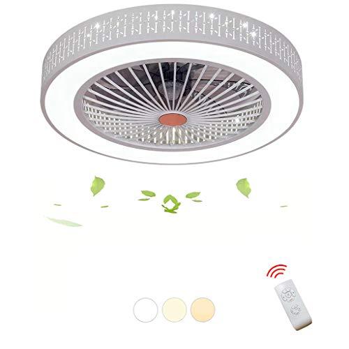 DOCJX Moderner Stil Creative Fan Deckenventilator LED Deckenleuchte mit Fernbedienung leise Deckenventilator Schlafzimmerlampe Wohnzimmerlampe Deckenlampe verstellbare Lichtquelle Lüfter Licht
