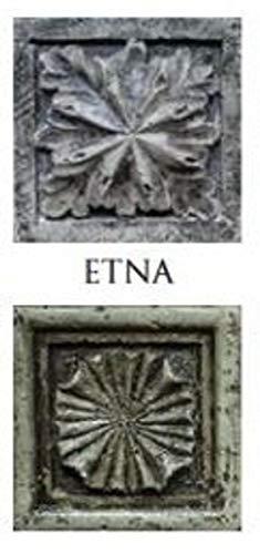 Casa Padrino Columna/Columna de Flores de Piedra Artificial 23 x 23 x H. 73 cm Pilar de Jardín de Estilo Antiguo, Colores:ETNA