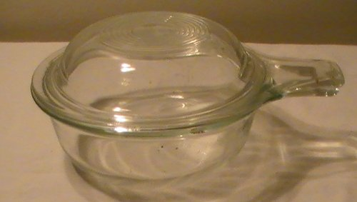 Vintage Clear Pyrex Small Casserole Baking Dish With Handle #601-B with Lid