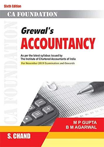 Grewal's Accountancy (CA Foundation), 6e