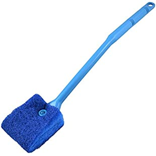 TOOGOO(R) Aquarium Fish Tank Double Sided Sponge Cleaning Brush Cleaner Scrubber Yale Blue