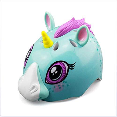 3D Paard Cartoon Afbeelding Meisje/Kids Helm, Kids Beschermend Gear, Verstelbare Veiligheid Skater Helm/Sport Helm voor Motorfiets BMX Skateboarden Skiën 2-6 Jaar 48-54cm, Kids Fietshelm sudaijins