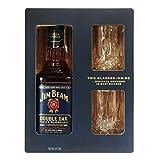 Jim Beam Doble Cask Whisky + Estuche 2 Vasos Digital - 700 ml