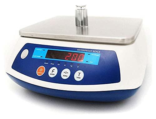 M3 Decorium Escala electrónica 30kg LCD Iluminar Desde el Fondo Monitor Ordenador Personal Caja de plástico Impermeable 304 Balance de Acero Inoxidable Cocina Digital (Color : 7Kg/1g)