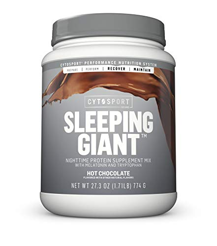 CYTOSPORT Sleeping Giant Nighttime Supplement Mix with Melatonin and Tryptophan, Hot Chocolate, 1.71 lb