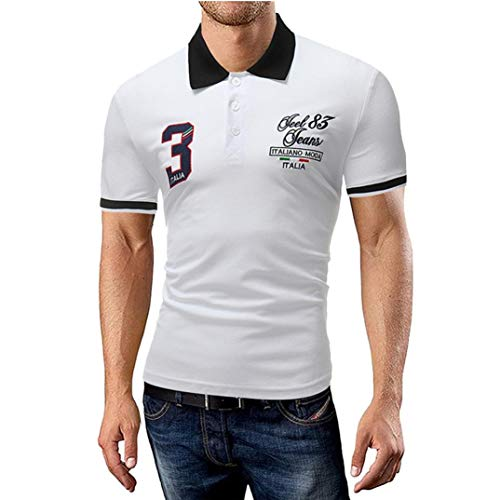 Mannen poloshirt zomer revers modern casual shirt mode polo daily casual patroon korte mouwen T-shirt tops slim basic