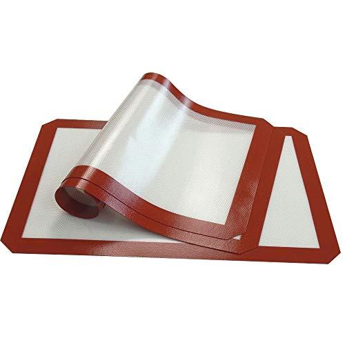 YILAITE Alfombrilla de Silicona para Hornear - Juego de 3, Forro de Silicona Antiadherente para moldes para Hornear y laminados Pastelería (s)