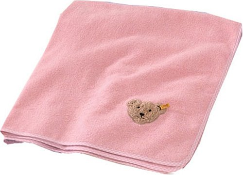 Morgenstern 3608/2 - Babydecke Steiff, Größe: 100 x 100cm, Farbe: rosa