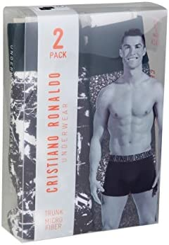 CR7 Cristiano Ronaldo Fashion Boxer para Hombre de Microfibra Pantalones Cortos 2-Pack (CR7-8502-4900)