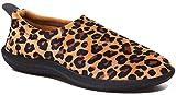 Gaatpot Zapatillas de Estar por Casa para Hombre Mujer Otoño Invierno Caliente Terciopelo Suave Zapatillas Interior Antideslizantes Zapatos Slippers Marrón Leopardo 41 EU