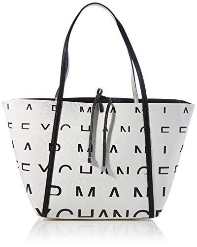 Armani ExchangeShoulder-handbagsDonnaBorse a manoWhite With Black LogoTU