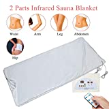 Far Infrared Sauna Heating Blanket,Detoxifies Beauty Machine body Massager Anti Wrinkles Device Slimming Fitness Safety-water Proof Steam Blanket, Body Shape Burning Fat for Beauty Salon,Home Use(US)