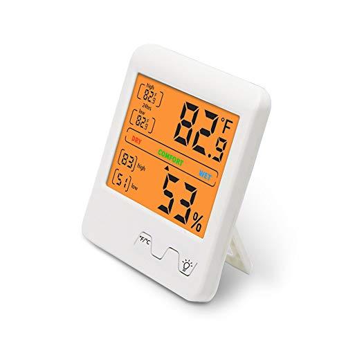 Higrómetro Digital, medidor de Humedad y Temperatura, Sensor de Monitor con luz de Fondo, Lectura precisa para el Cuarto de bebé de la Oficina en casa