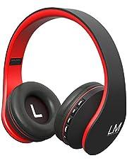 Bluetooth Hörlurar, Louise&Mann Trådlösa Hörlurar Over-Ear, Stereo Headset med Mikrofon, Mjuka Öronmuffar, Väska för transport för telefoner/tablets/PC