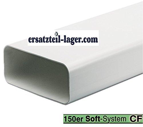 Kanal 150er Softkanal Oval Anschlusssystem 1m 222x89mm Dunstabzugshaube