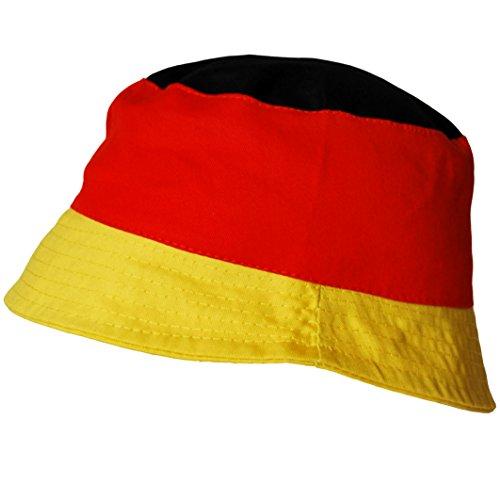 thb Richter Deutschland Malerhut Fanhut Fanartikel Fußball Fischerhut Deutschlandfarben WM EM Hut Hüte Fanclub Germany