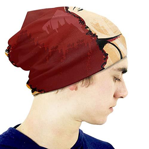 Popular Singer Karaoke Style Boys Beanie Hats Winter Hats for Youth Girls Kids Warm Skull Cap Black