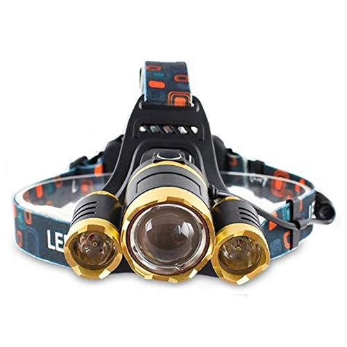 WPCBAA 15000 lumen LED koplamp 3 * T6 Zoom LED koplamp zaklamp koplamp lamp lamp zonder 2 * 18650 batterij