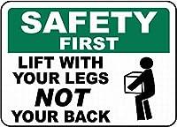 足を安全に持ち上げる 金属板ブリキ看板警告サイン注意サイン表示パネル情報サイン金属安全サイン