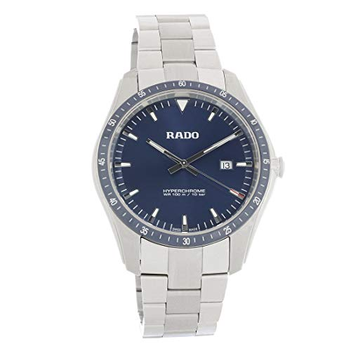 Rado HyperChrome R32502203 herenhorloge van staal en keramiek, met blauwe wijzerplaat.