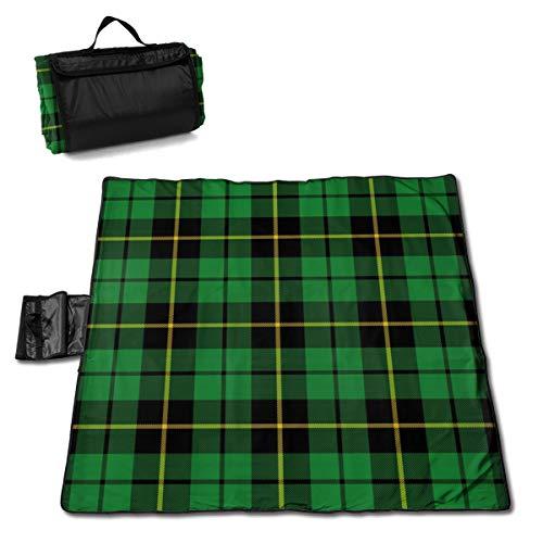 Nonebrand Wallace - Manta de picnic para caza y caza - Manta de picnic al aire libre, lavable, plegable, impermeable, esterillas para exteriores, para picnic, camping, playa, tamaño grande de 57 x 59 pulgadas