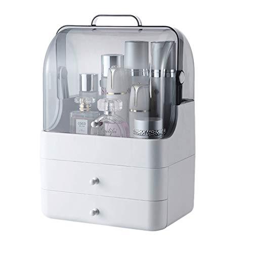 Sminkväska kosmetisk förvaringsbox hem PS skrivbord stor kapacitet kosmetisk förvaringsbox klar (storlek: L 26 x B 18 x H 40 cm - B)