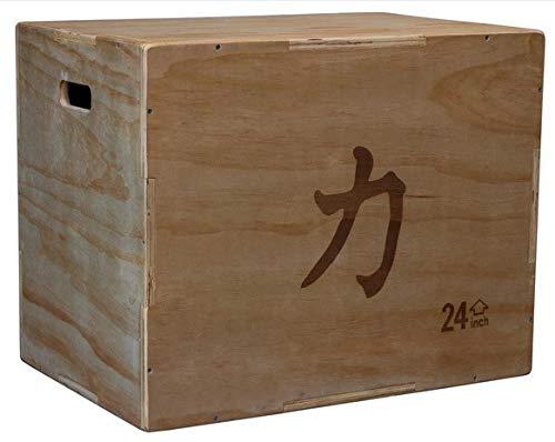 Grosse Plyo Box aus Holz - 76 cm x 61 cm x 51 cm - Plyometric Wood Jump Sprungbox