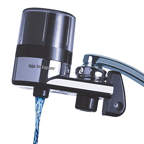 Instapure F2 ESSENTIALS Tap Water Filtration System (Chrome with Clear Cap) + 1 Filter, Certified to ANSI/NSF 42 for the Reduction of Chlorine, to Improve Taste and Reduce Odor