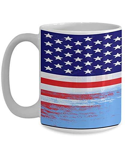 N\A USA Fidschi Flagge polynesische weiße Kaffeetasse Teetasse