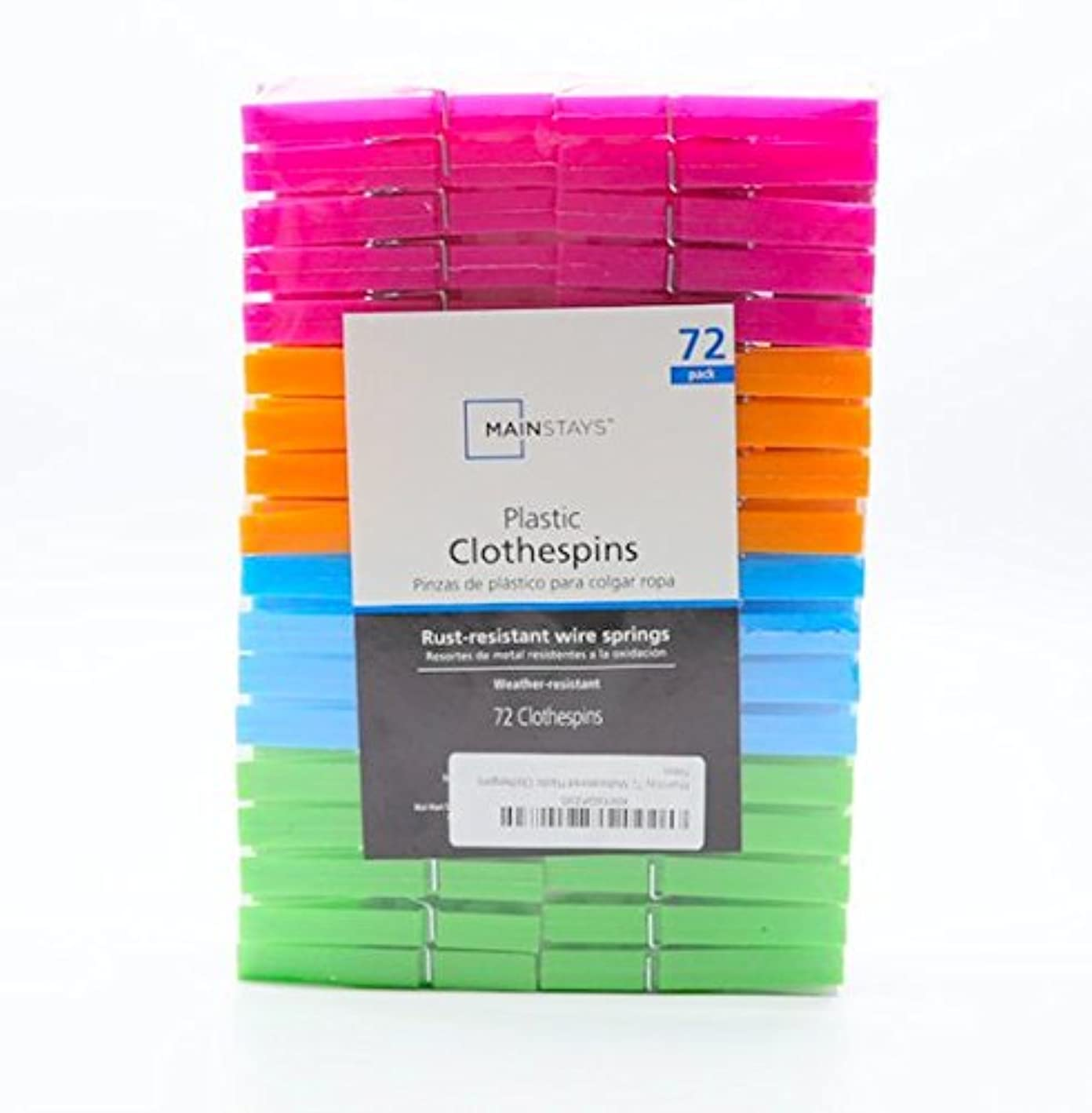 Mainstay 72 Multicolored Plastic Clothespins