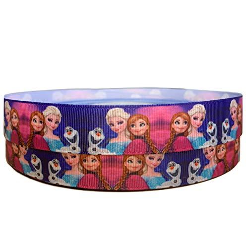Die Eiskönigin Elsa Anna Olaf 2 m x 22 mm breit für personalisierte Geburtstagskuchen-Dekoband & Dekorationsideen für Geschenkpapier, Schleifen, Topper oder Verpackung für Tüten