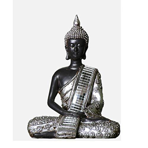 YJXJJD Thai Buddha Statues Lucky Vintage Southeast Asian Style Home Decoration Buddha Statue Bar Restaurant Decoration 14 X 8 X 19cm