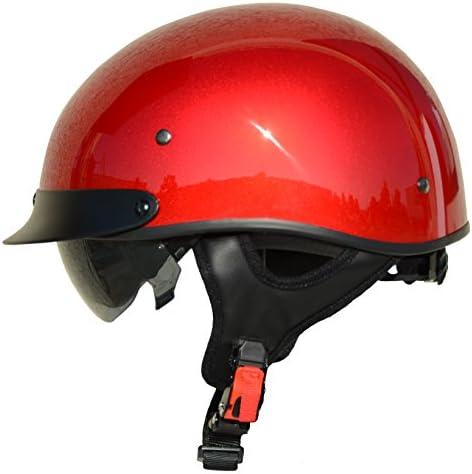 Vega Helmets 7850 022 Unisex Adult Half Size Motorcycle Helmet Velocity Red X Large product image