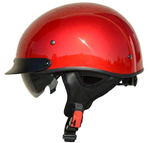 Vega Helmets 7850-022 Unisex-Adult Half Size Motorcycle Helmet (Velocity Red, X-Large)