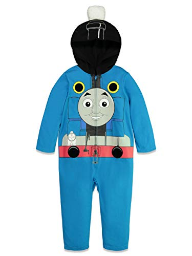 Thomas & Friends Toddler Boys Costume Zip-Up Coverall with Hood 4T