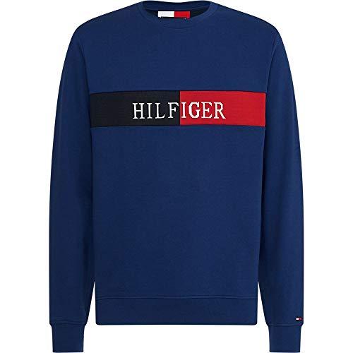 Preisvergleich Produktbild Tommy Hilfiger Herren Hilfiger Intarsia Sweatshirt,  Blau,  Small (Herstellergröße:)
