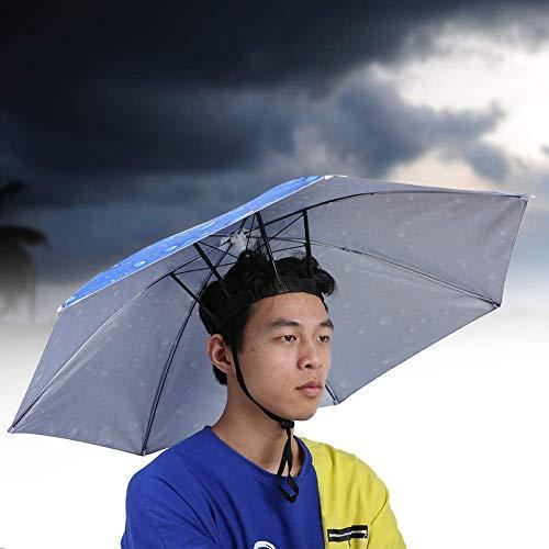 cvhtroe Angelmütze Regenschirm, 77cm Regenschirm Top Sonnenhut, faltbar für Outdoor Teens Patio Erwachsene (Außenbank Innen Königsblau)