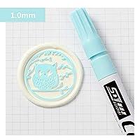 シーリングワックスペン 1.0mm シーリングワックス 専用 カラーペン 油性ペン シーリングワックス着色 封蝋 招待状 着色 シーリングワックス筆 シールワックス (空色)