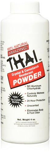 Thai Deodorant Stone Crystal And Corn Starch Deodorant Body Powder (1x3 Oz)