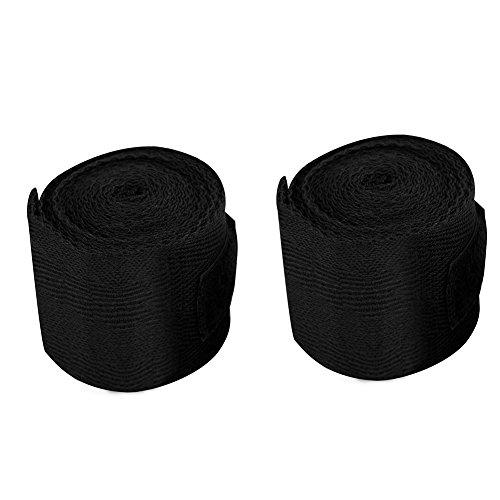 Dioche Boxe bendaggi da Uomo, 2.5m 3Colori 2PCS Set Cotone Bendaggio Fasce per Mani per Boxe, Kickboxing, Blue(Nero)