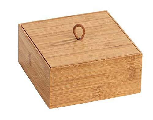 Wenko Bambus Box Terra M mit Deckel - 15 x 15 x 7 cm